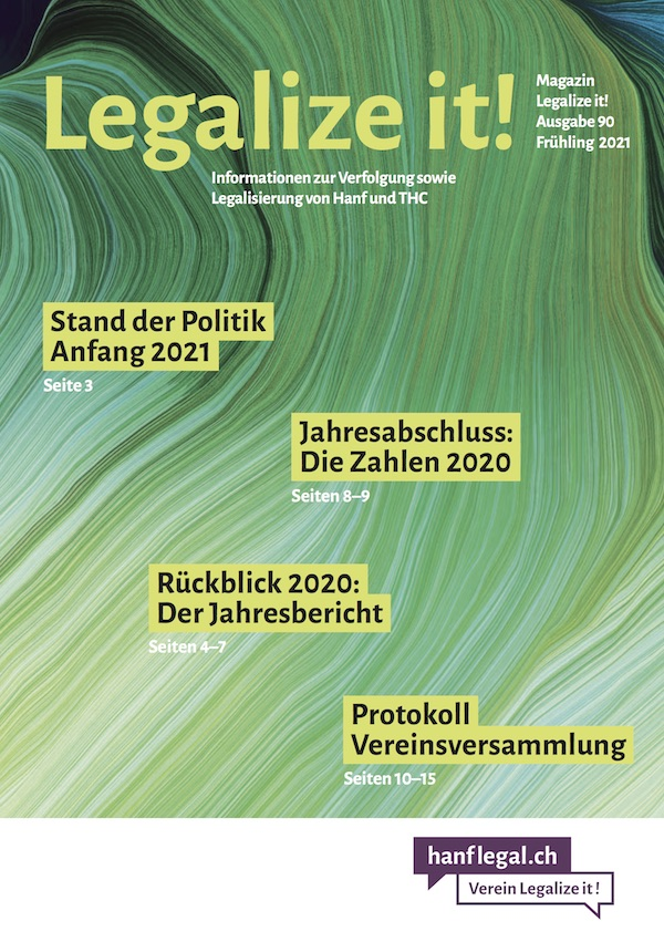 Magazin Legalize it! Nr. 90 - Frühling 2021